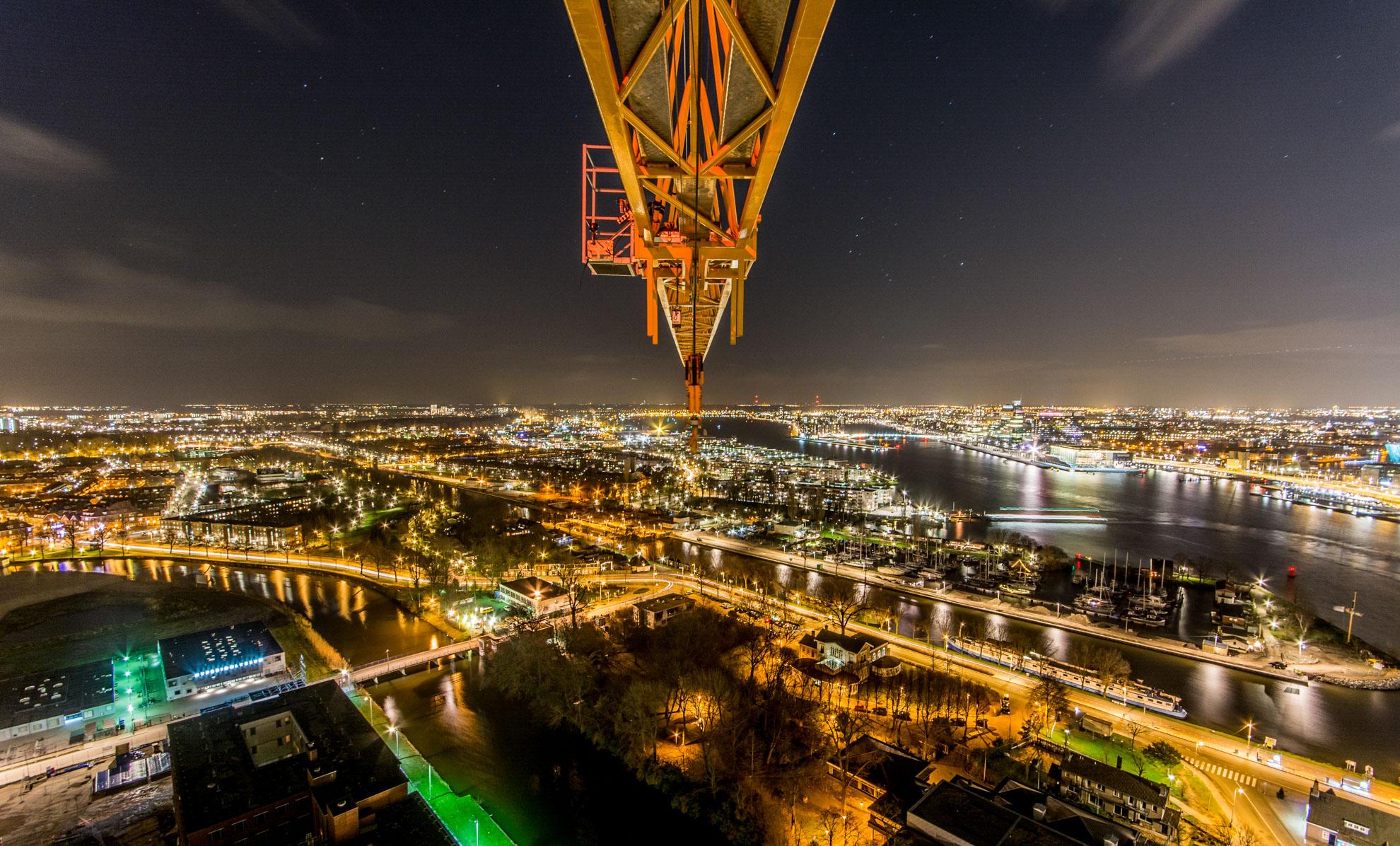 Nachtelijk Amsterdam, Kerstavond 2014, A'DAM Toren