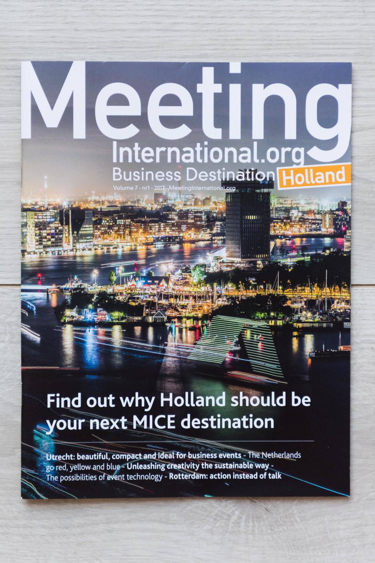 Meeting magazine cover