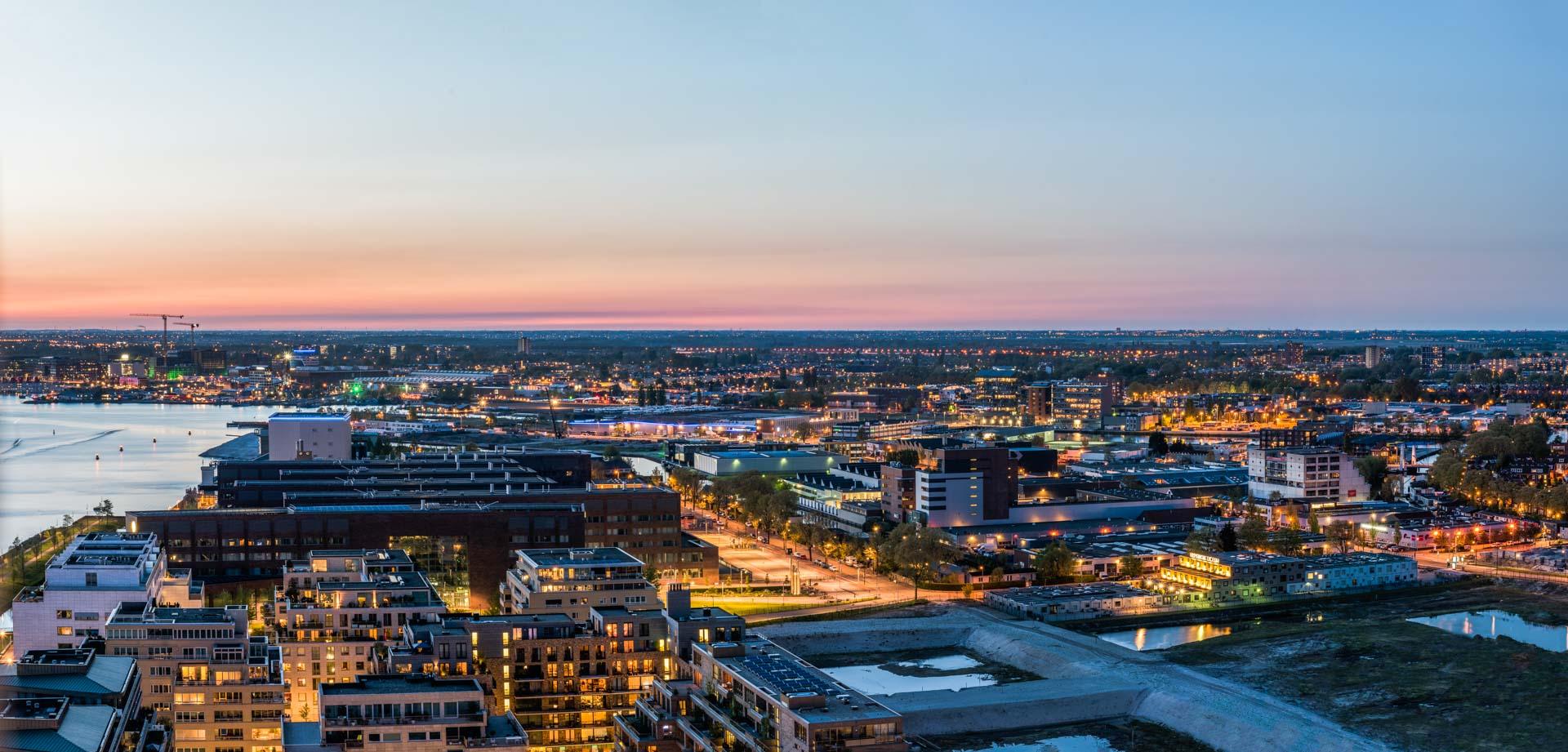 Nachtelijk Amsterdam, Purmerend, A'DAM Toren, uitzicht, panorama