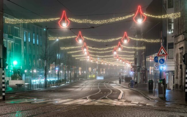 Avondklok Amsterdam corona Rokin